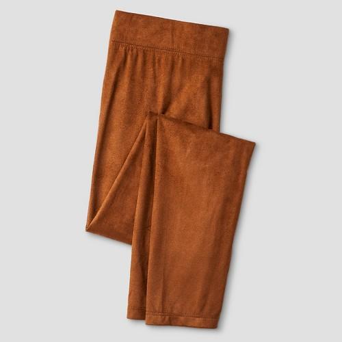 Girls' Suede Legging Natural XS - Xhilaration, Girl's, Size: XS (4-5), Brown