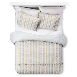 Canary Jane Reversible Duvet Cover and Sham Set (King) Blue 3-Piece - Beekman 1802 FarmHouse