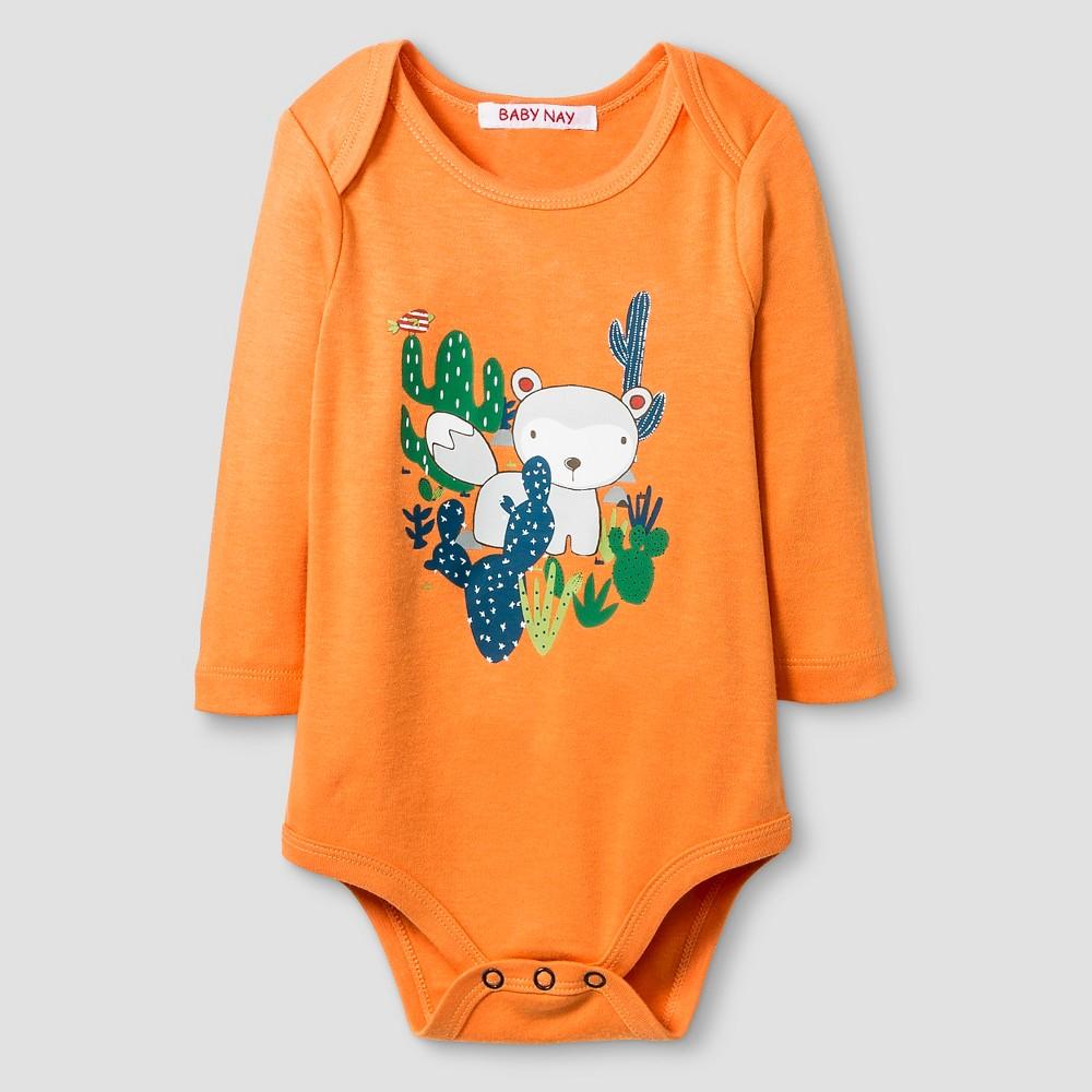 Baby Nay Baby Boys' Campfire Friends Bodysuit – Orange 18M, Infant Boy's, Size: 18 M