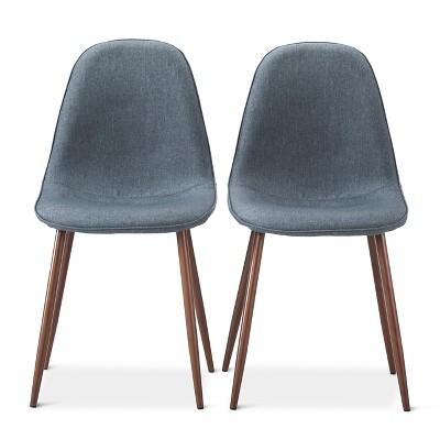 Porter Mid Century Modern Dining Chair - Indigo Blue (Set of 2)