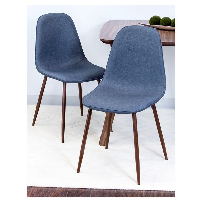 porter mid century modern dining chairs set of 2