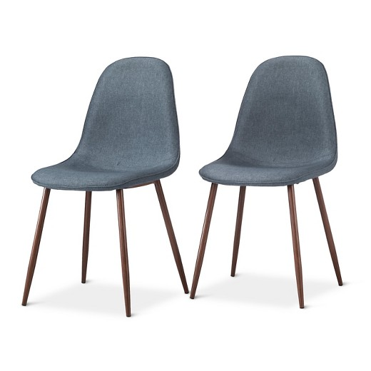 Porter Mid Century Modern Dining Chairs Set of 2 Tar