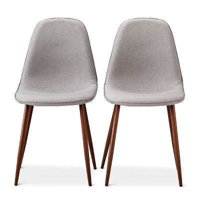 Porter Mid Century Modern Dining Chair - Gray(Set of 2)