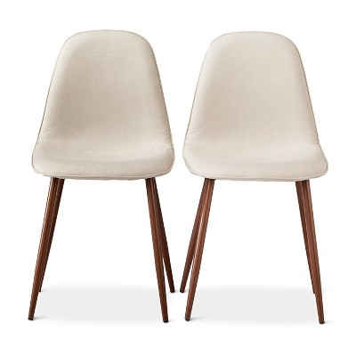 Porter Mid Century Modern Dining Chair - Beige (Set of 2)