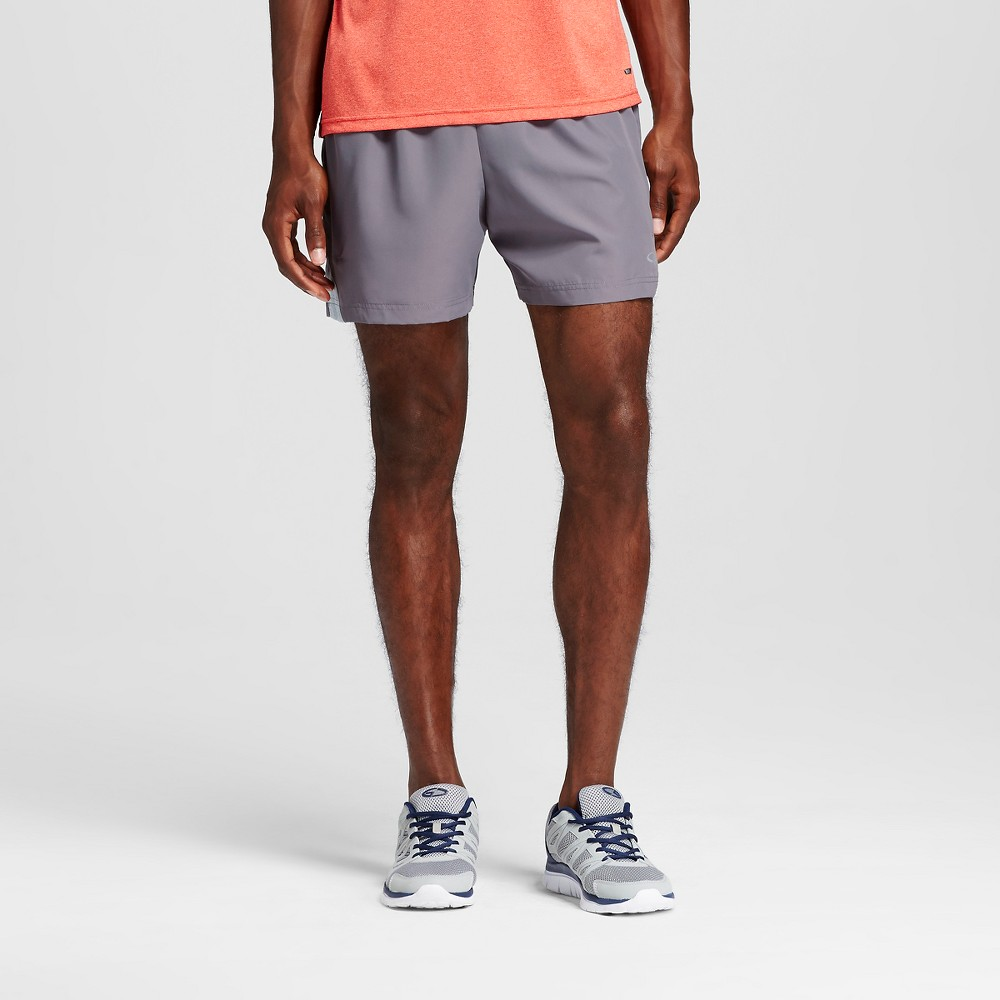 Mens 5 Running Shorts - C9 Champion Thundering Gray L