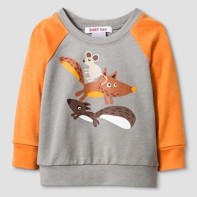 Baby Nay® Baby Boys' Campfire Friends Sweatshirt - Gray 24M