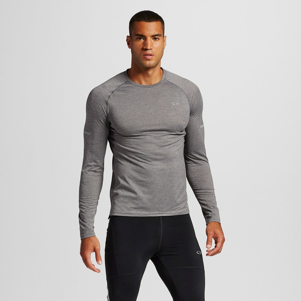 Mens Premium Running Long Sleeve T-Shirt - C9 Champion Railroad Gray Heather XL