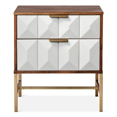 2 Drawer Studded Nightstand   Nate Berkus™