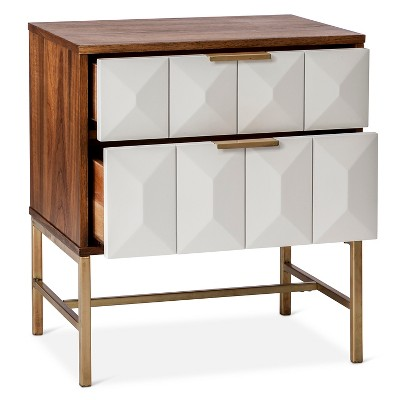 2 drawer studded nightstand nate berkus