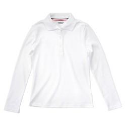 French Toast Girls' Long Sleeve Interlock Polo Shirt