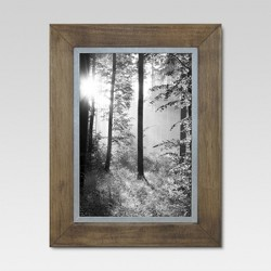 Raw Wood with Metal Edge Frame - Threshold™
