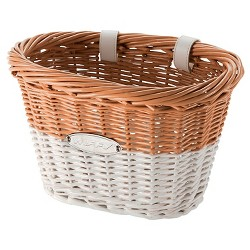 Huffy Wicker Basket - Natural & White