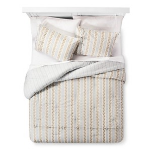 Canary Jane Reversible Comforter and Sham Set (Twin Extra Long) Blue 2-Piece - Beekman 1802 FarmHouse
