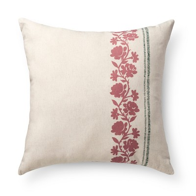 Neutral Emma Throw Pillow (22 X22 )- Beekman 1802 Farmhouse™