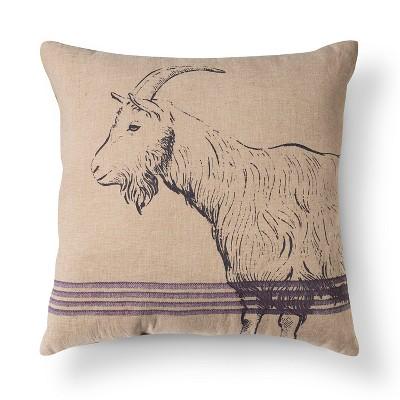 Beige King Of The Mountain Burlap Throw Pillow (20 X20 )- Beekman 1802 Farmhouse™
