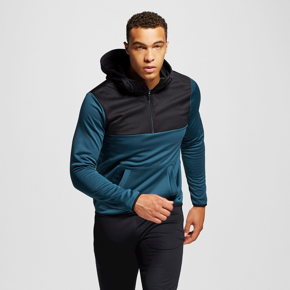 Men's Pullover Hoodie - C9 Champion Teal Regatta 2XL, Size: Xxl