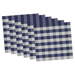 Blue Checkers Placemat (Set Of 6) - Design Imports