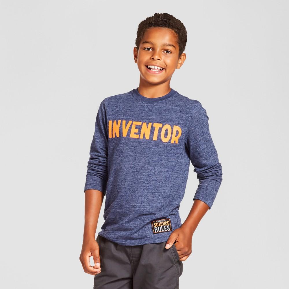 Boys Long Sleeve Inventor Graphic T-Shirt - Cat & Jack Navy Xxl, Blue