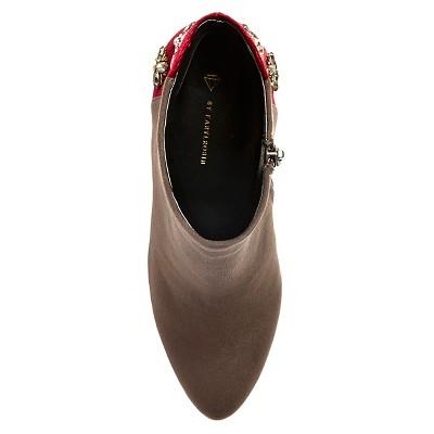 Women's Diamond by FarylRobin Fawcett Embellished Heel Ankle Boots - Dark Grey 9.5, Gray