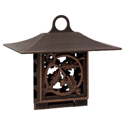 Oak Leaf Suet Bird Feeder - Oil-Rubbed Bronze - Whitehall Products