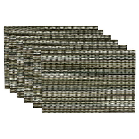 Green Micro Stripe Placemat (Set Of 6) - Design Imports - image 1 of 1