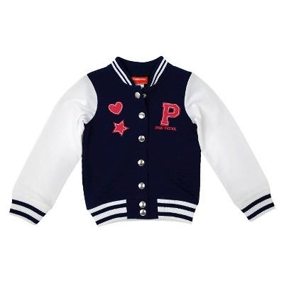 Toddler Girls' PAW Patrol Varsity Jacket Blue 5T