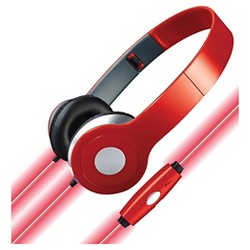 iLive On-the-Ear Stereo Designer Wired Headphones with Glowing Cable