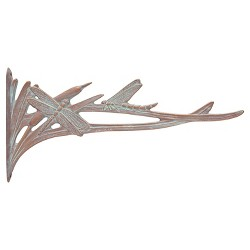 Aluminum Dragonfly Nature Hook - Copper Verdigris - Whitehall Products
