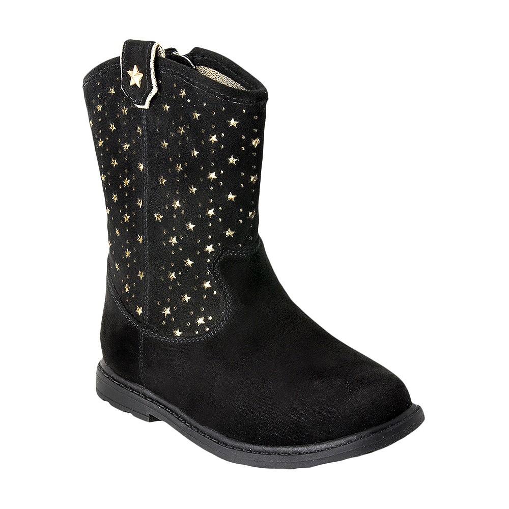 Toddler Girls Just Buds Western Star Comfort Western Boots - Black 8