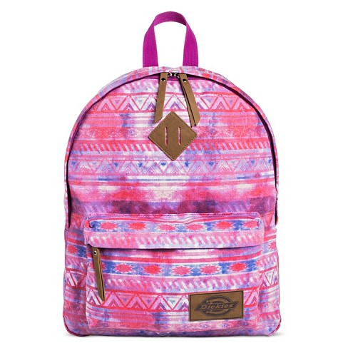 Dickies Women's Canvas Backpack Handbag with Tribal Design and Zip Closure - Pink - image 1 of 3