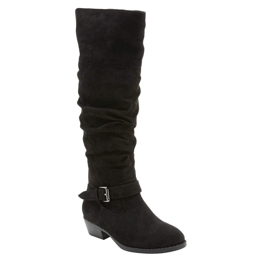 Girls Revel Debbie Over the Knee Boots - Black 1