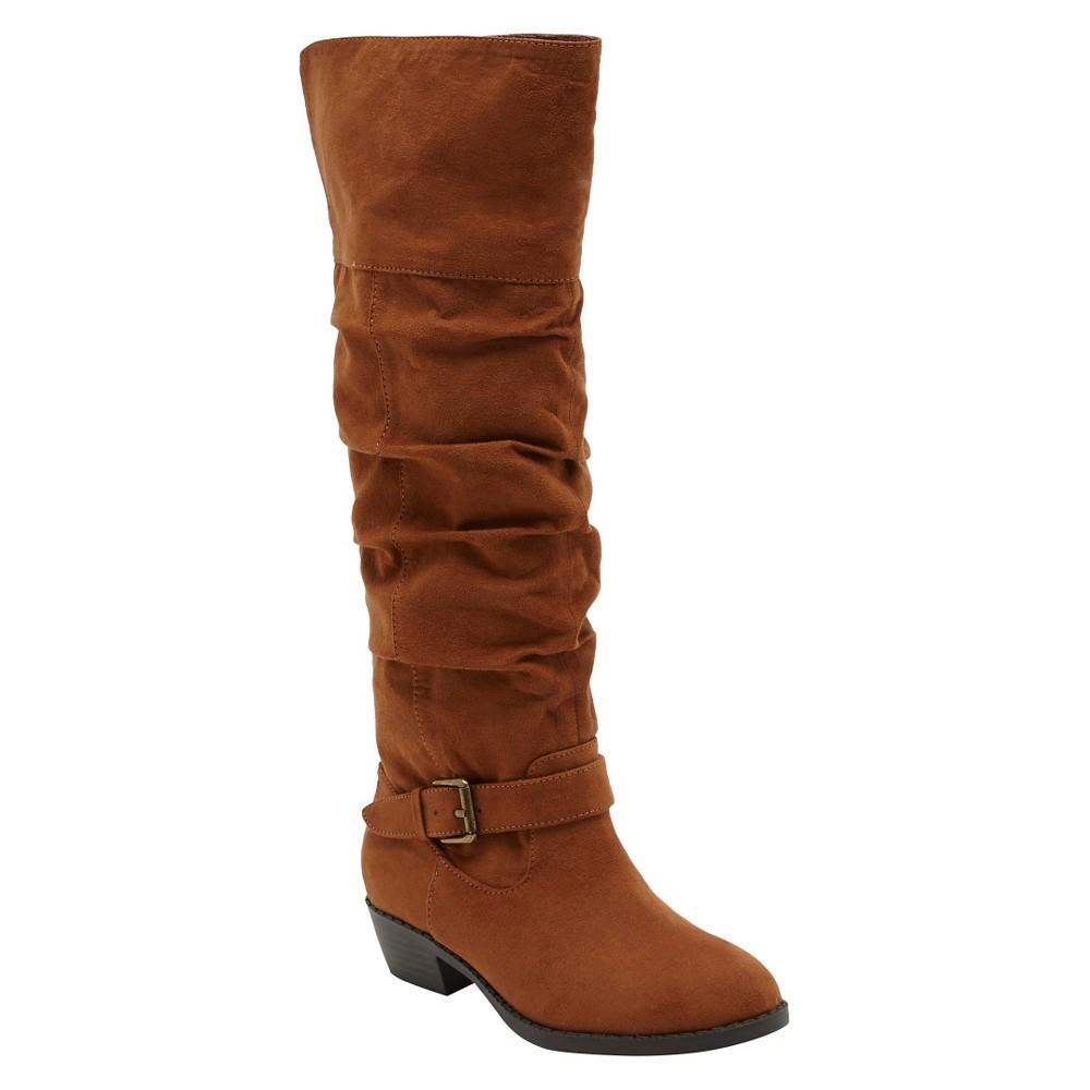 Girls Revel Debbie Over the Knee Boots - Chestnut (Brown) 6