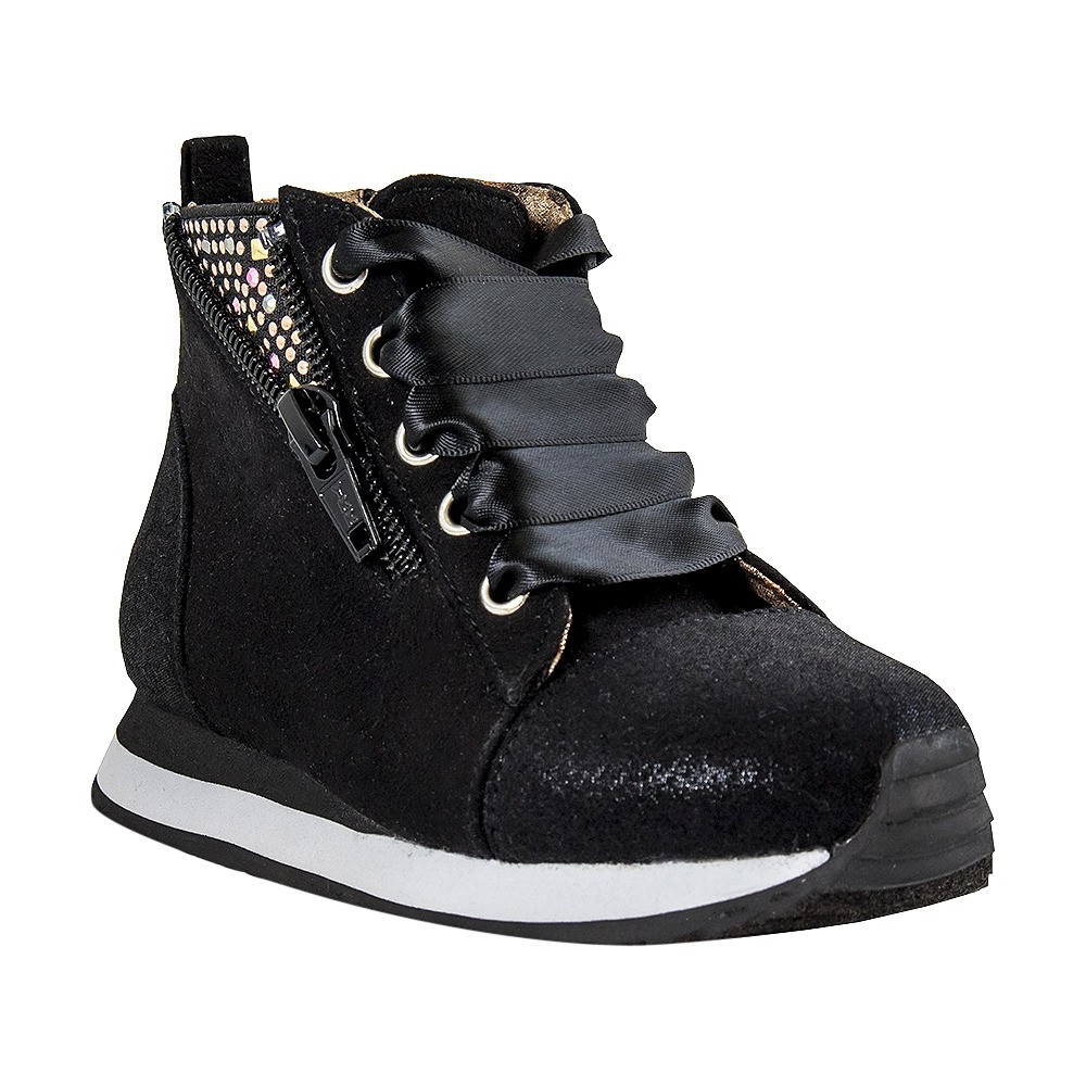 Toddler Girls Just Buds Ribbon Comfort Sneakers - Black 7