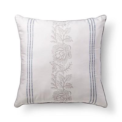 Jasmine Floral Striped Pillow (26 x26 )- Beekman 1802 FarmHouse™