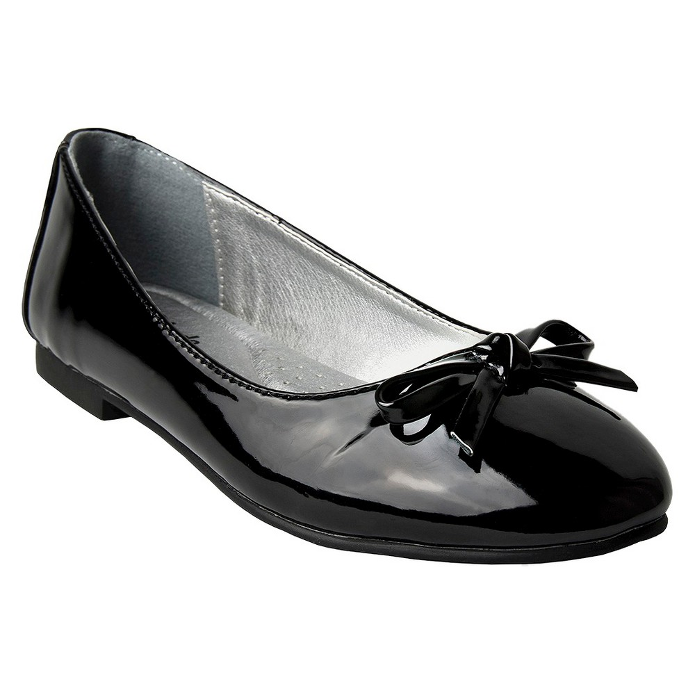 Girls Just Buds Ania Mary Jane Ballet Flats - Black 1