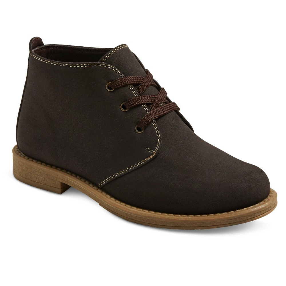 Boys Scott David Reid Chukka Boots - Brown Smooth 1