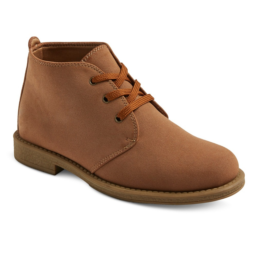 Boys Scott David Reid Chukka Boots - Tan Smooth 1