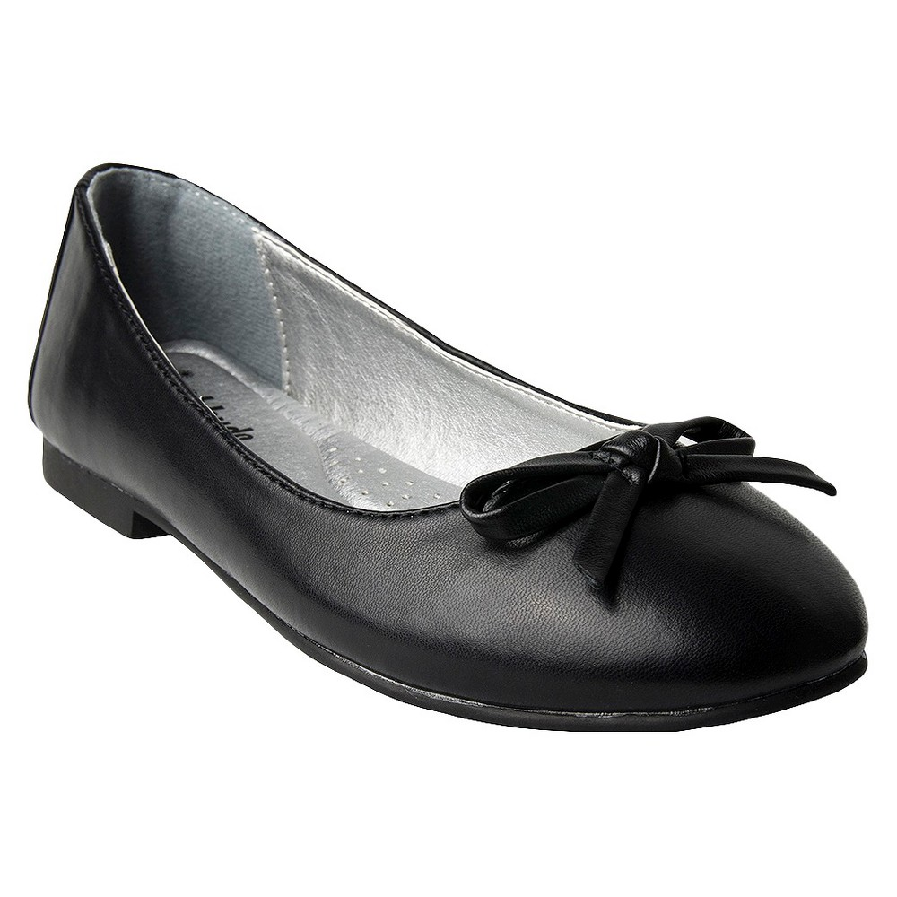 Girls Just Buds Aly Mary Jane Ballet Flats, Size: 1, Black