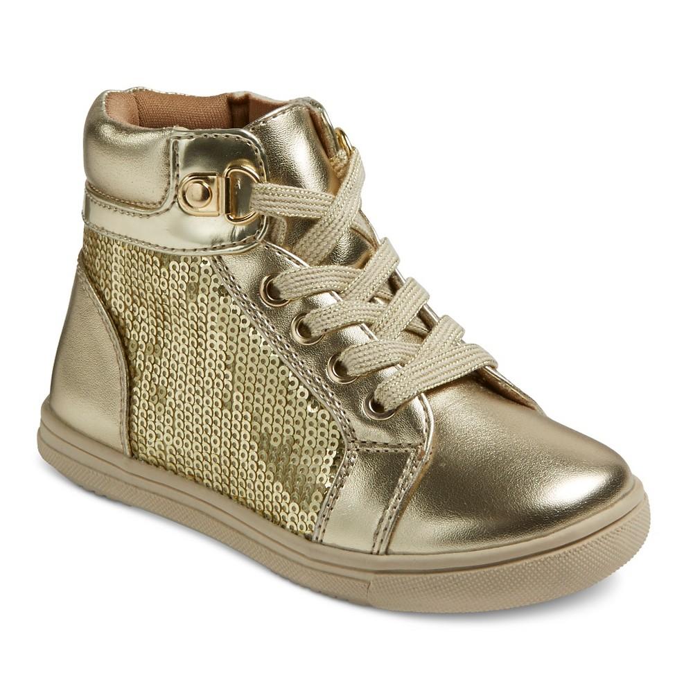 Toddler Girls Rachel Shoes Retro Jogger Sneakers - Gold Sequins 9