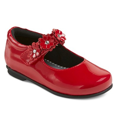 Toddler Girls' Rachel Shoes Patent Mary Jane Ballet Flats - Red Patent 7