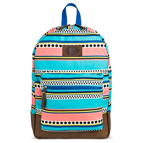 Dickies Women's Canvas Backpack Handbag with Stripes and Zip Closure - Mint/Multicolor - image 1 of 3