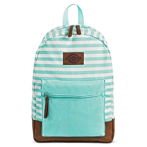Dickies Women's Canvas Backpack Handbag with Stripes and Zip Closure - Mint - image 1 of 3