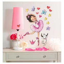 Ballerina Big Wall Peel & Stick Wall Decal 2 Sheets - Wallies®