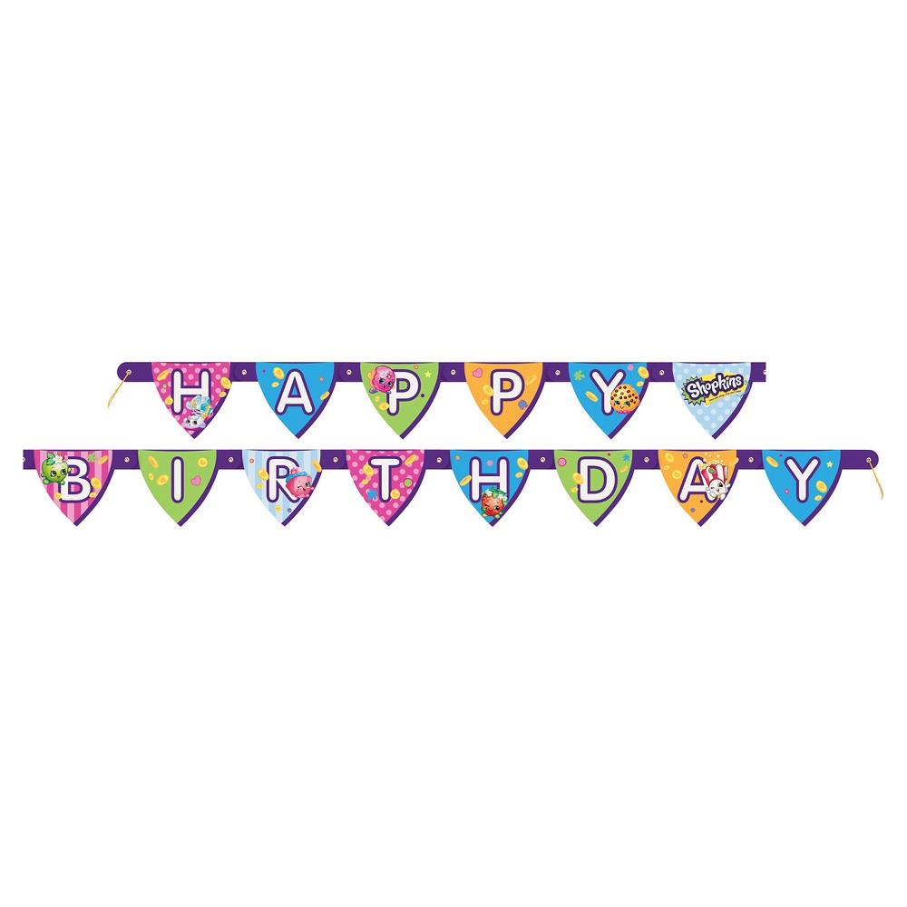 Shopkins Happy Birthday Banner