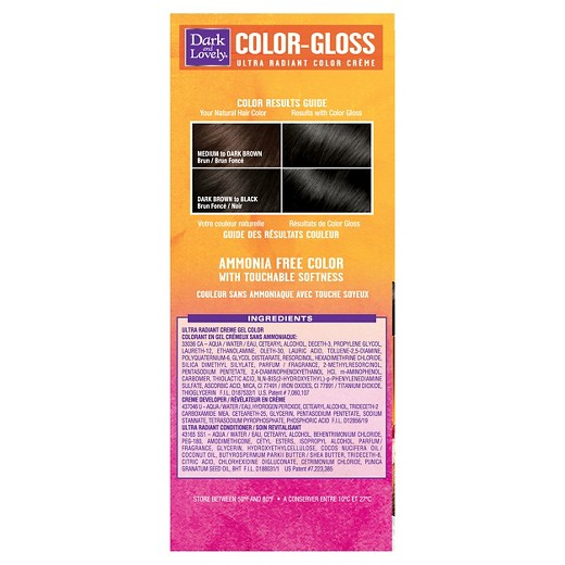 Dark And Lovely Color Gloss Semi Permanent Hair Color  Jet Black  Target