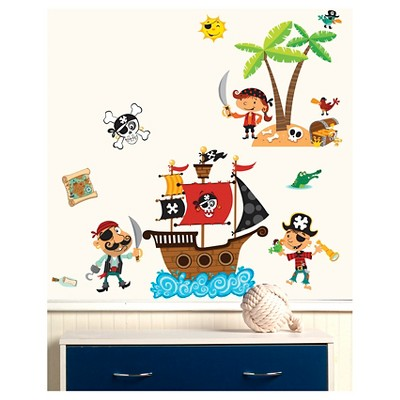 Pirates Wallplay Peel U0026 Stick Wall Decal 2 Sheets   Wallies®