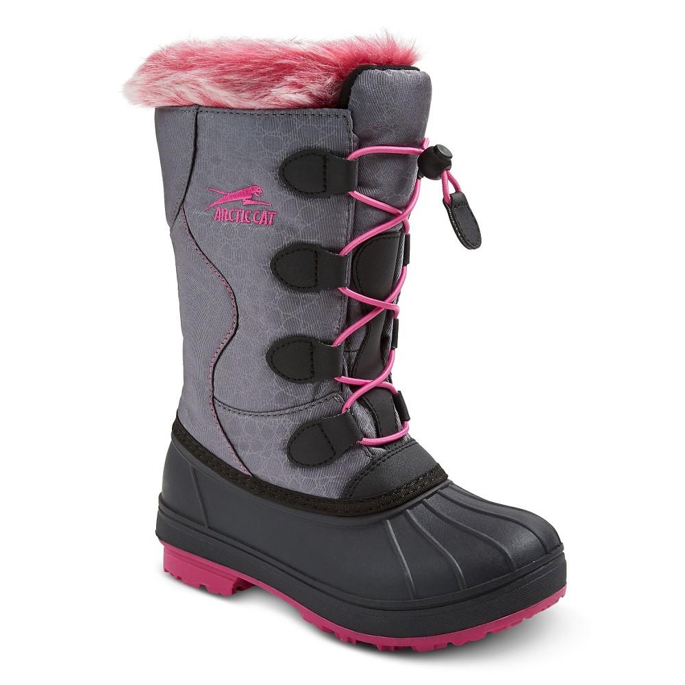 Girls' Arctic Cat Snowcharm Winter Boots - Gray/Pink 4