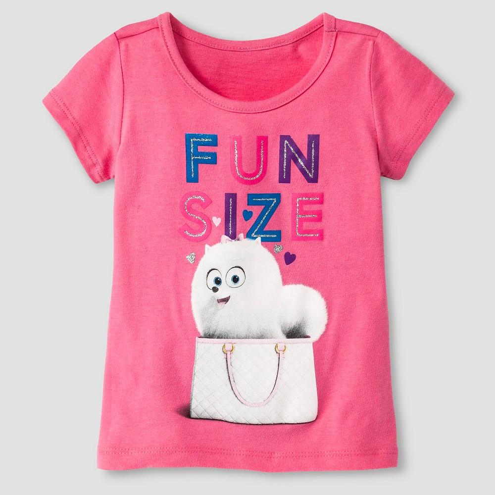 Secret Life of Pets Toddler Girls' Gidget T-Shirt 2T - Bubble Gum Pink