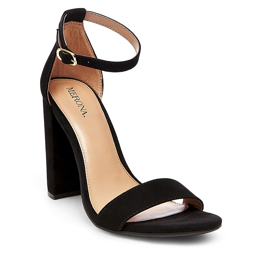 Womens Lulu Block Heel Sandals - Merona Black 7.5