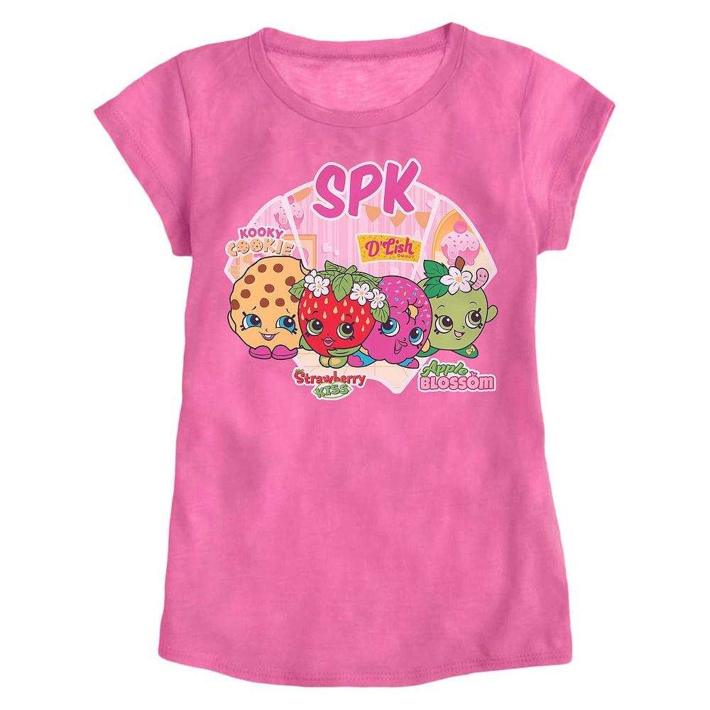 Girls' Shopkins T-Shirt – Pink L, Girl's